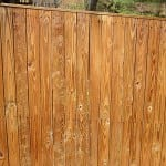 4. Fence of newer wood - After